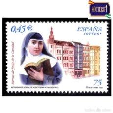 Sellos: ESPAÑA 2001. EDIFIL 3812. SIERVAS DE JESUS DE LA CARIDAD. NUEVO** MNH. Lote 261633795