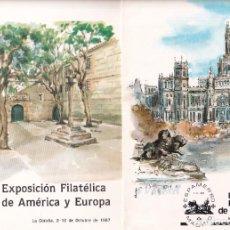 Sellos: SELLOS ESPAÑA OFERTA 2 CARPETAS EXPO AÑO 1980 Y 1987 CON MATASELLOS ESPECIALES. Lote 261680965