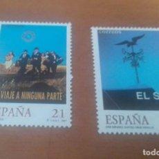Selos: 2 SELLOS DE 21 Y 32 PESETAS CINE ESPAÑOL 1997 EDIFIL 3472 Y 3473 NUEVOS. Lote 261783160