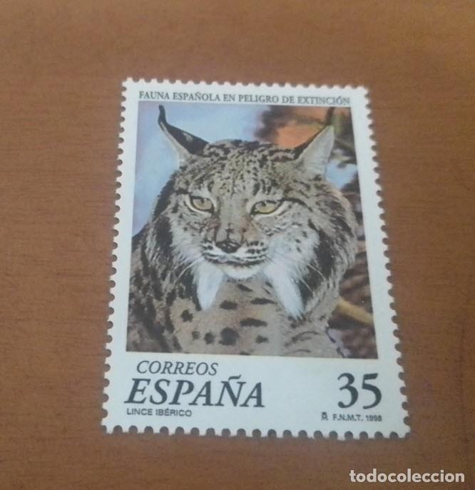 SELLO DE 35 PESETAS FAUNA ESPAÑOLA EN PELIGRO DE EXTINCION 1998 EDIFIL 3529 NUEVO (Sellos - España - Juan Carlos I - Desde 1.986 a 1.999 - Usados)