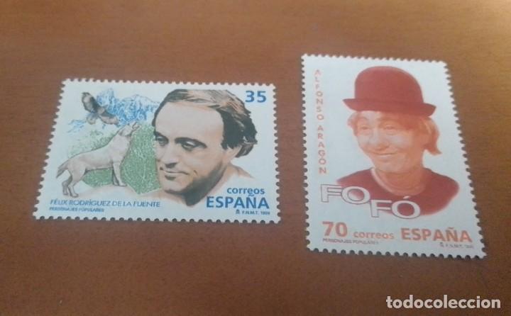 2 SELLOS DE 35 Y 70 PESETAS PERSONAJES POPULARES 1998 EDIFIL 3546 Y 3547 NUEVOS (Sellos - España - Juan Carlos I - Desde 1.986 a 1.999 - Usados)