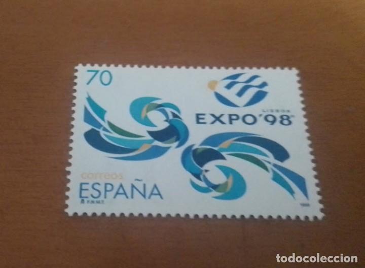 SELLO DE 70 PESETAS EXPOSICION UNIVERSAL LISBOA EXPO 98 1998 EDIFIL 3554 NUEVO (Sellos - España - Juan Carlos I - Desde 1.986 a 1.999 - Usados)