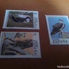 Sellos: 3 SELLOS FAUNA ESPAÑOLA EN PELIGRO DE EXTINCION 1999 EDIFIL 3614 AL 3616 NUEVOS. Lote 262046950