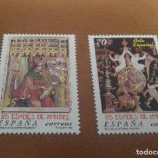 Selos: 2 SELLOS DE 35 Y 70 PESETAS ARTE ESPAÑOL LAS EDADES DEL HOMBRE EDIFIL 3620 Y 3631 NUEVOS. Lote 262056505