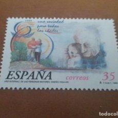 Selos: SELLO DE 35 PESETAS AÑO INTERNACIONAL DE LAS PERSONAS MAYORES 1999 EDIFIL 3660 NUEVO. Lote 262062260