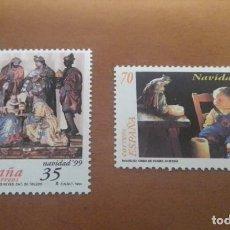 Sellos: 2 SELLOS DE 35 Y 70 PESETAS NAVIDAD 1999 EDIFIL 3685 Y 3686 NUEVOS. Lote 262065510