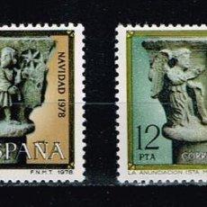 Sellos: ESPAÑA 1978 (2491-2492) NAVIDAD (USADO). Lote 262237905