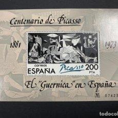 Sellos: ESPAÑA 1981. EDIFIL 2631. EL GUERNICA EN ESPAÑA. CENTENARIO DE PICASSO. HOJA BLOQUE. NUEVO. Lote 262710930