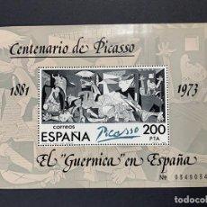 Sellos: ESPAÑA 1981. EDIFIL 2631. EL GUERNICA EN ESPAÑA. CENTENARIO DE PICASSO. HOJA BLOQUE. NUEVO. Lote 262711365