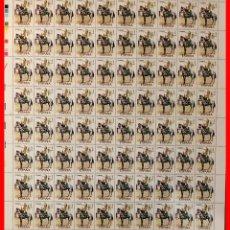 Sellos: ESPAÑA PLIEGO DE 80 SELLOS NUEVOS (UNIFORMES MILITARES) AÑO 1976 EDIFIL 2350. Lote 262723525