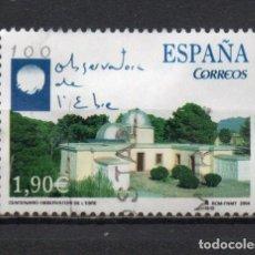 Sellos: SERIE USADA DE ESPAÑA -I CENTENARIO DEL OBSERVATORIO DEL EBRO-, AÑO 2004. Lote 262751140