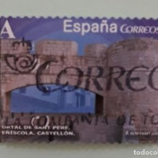 Sellos: SELLO DE ESPAÑA 2015. PORTAL DE SANT PERE. PEÑÍSCOLA. CASTELLÓN. USADO. Lote 262753345