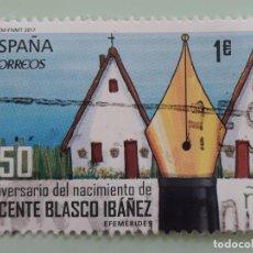 Sellos: SELLO DE ESPAÑA 2017. EDIFIL 5122. 150 ANIVERSARIO NACIMIENTO VICENTE BLASCO IBÁÑEZ. USADO.. Lote 262755495