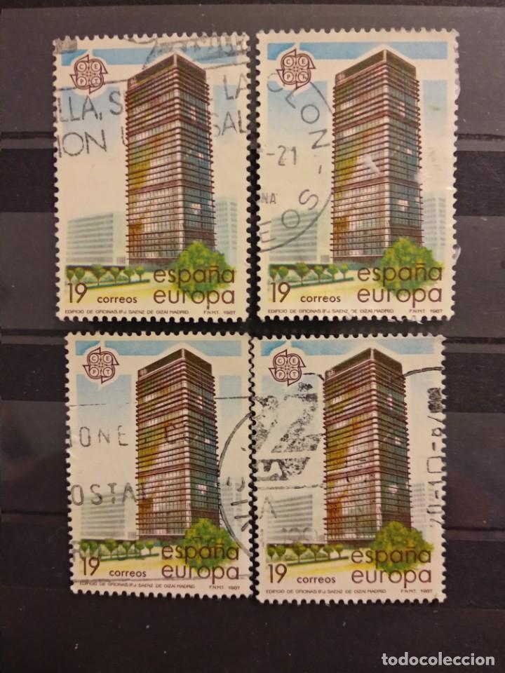 AÑO 1987 EUROPA ARTES MODERNAS ARQUITECTURA SELLOS USADOS EDIFIL 2904 (Sellos - España - Juan Carlos I - Desde 1.986 a 1.999 - Usados)
