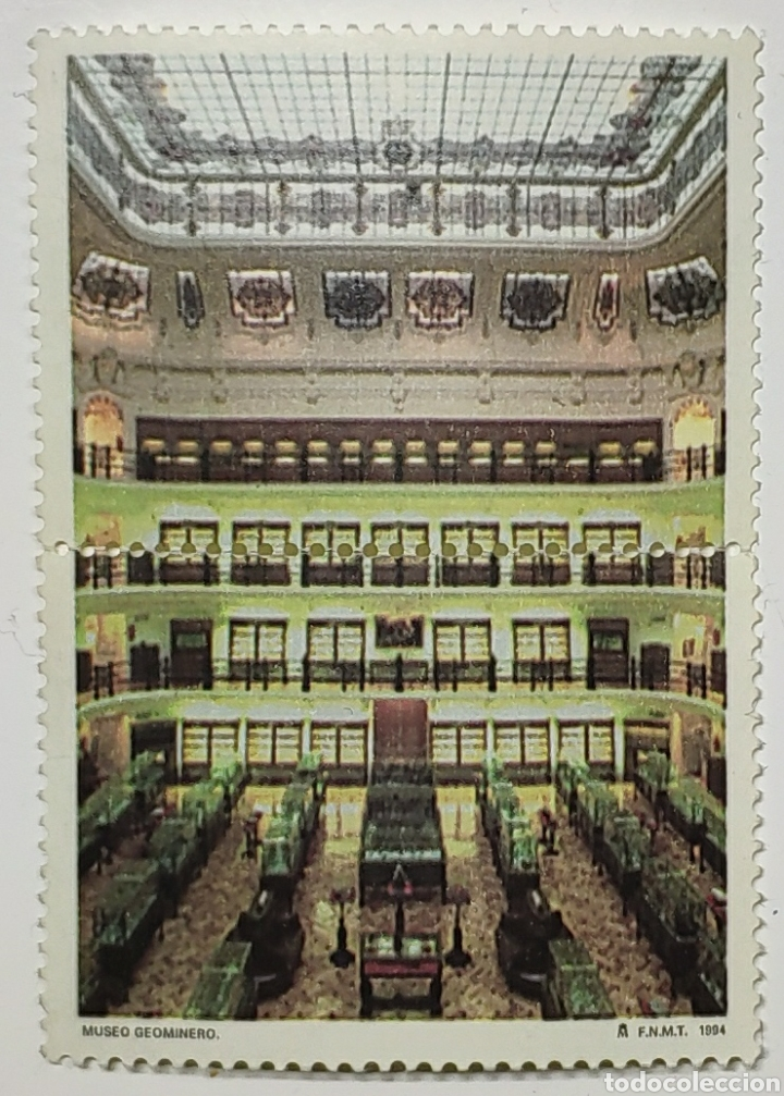 2 SELLOS MUSEO GEOMINERO, SIN VALOR POSTAL, 1994 (Sellos - España - Juan Carlos I - Desde 1.986 a 1.999 - Usados)