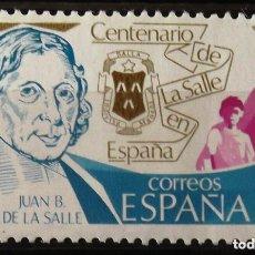 Sellos: ESPAÑA 1979 (2511) CENTENARIO DE LA SALLE (NUEVO). Lote 263074790