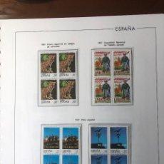 Sellos: SELLOS ESPAÑA AÑO 1997 COMPLETO EN BLOQUES DE 4 MONTADO EN HOJAS EDIFIL. Lote 263100035