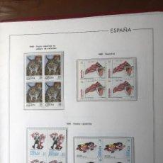 Sellos: SELLOS ESPAÑA AÑO 1998 COMPLETO EN BLOQUES DE 4 MONTADO EN HOJAS EDIFIL. Lote 263100125
