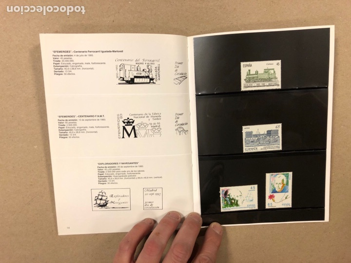 Sellos: EMISIONES DE SELLOS CORREOS Y TELÉGRAFOS ESPAÑA ANDORRA 1993. COMPLETO. - Foto 9 - 263577790