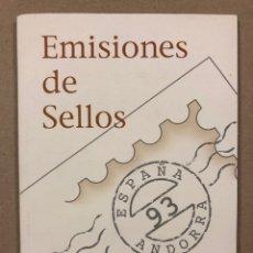 Sellos: EMISIONES DE SELLOS CORREOS Y TELÉGRAFOS ESPAÑA ANDORRA 1993. COMPLETO.. Lote 263577790