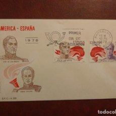 Francobolli: AÑO 1978 SOBRES AMERICA-ESPAÑA EDIFIL 2489-2490. Lote 264832584