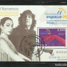Selos: HOJA DE LA EXPOSICION DE FILATELIA ESPAÑA 06. EL FLAMENCO. Lote 264964684