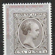 Sellos: 1989.-CENTENARIO DE LA PRIMERA EMISIÓN DE ALFONSO XIII.. Lote 265329099