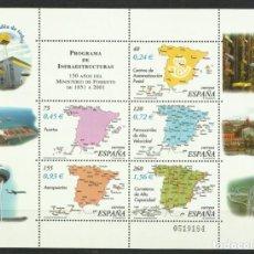 Francobolli: HOJA DE INFRAESTRUCTURAS DEL 2.001 BAJO FACIAL. Lote 265462919