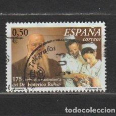 Selos: ESPAÑA. Nº 3895. AÑO 2002. ANIV. MUERTE FEDERICO RUBIO Y GALÍ. USADO.. Lote 265777994