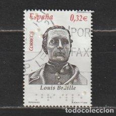 Selos: ESPAÑA. Nº 4500. AÑO 2009. PERSONAJES: LOUIS BRAILLE. USADO.. Lote 266009968