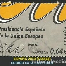 Selos: ESPAÑA 2010 - ES 4548 - TEMA PRESIDENCIA U.E. (VER IMAGEN) - 1 SELLO USADO. Lote 266320758