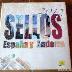 Sellos: LIBRO OFICIAL COMPLETO SELLOS ESPAÑA ANDORRA - 2012 - IMPECABLE - VALORES EN EL TIEMPO. Lote 267113849
