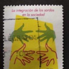 Selos: ESPAÑA 2006 EDIFIL 4262 EUROPA CEPT NORMALIZACION INTEGRACION DE LOS SORDOS LENGUAJE USADO. Lote 267124214