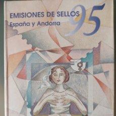Sellos: EMISIÓN DE SELLOS ESPAÑA ANDORRA LIBRO ÁLBUM. Lote 267186584
