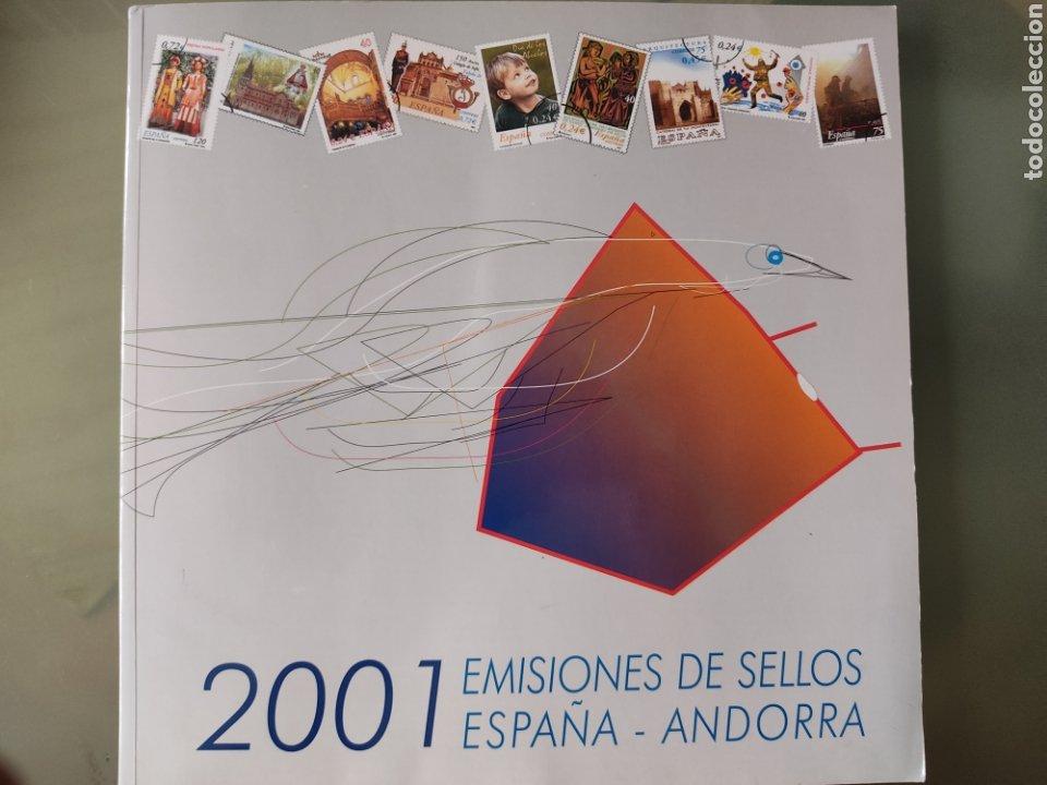 EMISIÓN DE SELLOS DE ESPAÑA Y ANDORRA 2001 LIBRO ÁLBUM (Sellos - España - Juan Carlos I - Desde 2.000 - Nuevos)