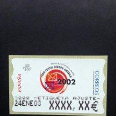 Sellos: ATMS 2002 FORO POSTAL. ATM ETIQUETA POSTAL DE AJUSTE ANCHA.. Lote 267234329