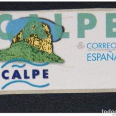Sellos: ESPAÑA.AÑO 1999. PEÑÓN DE IFACH ( CALPE ). ETIQUETA POSTAL NUEVA Y LIMPIA.. Lote 267234879