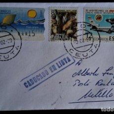 Sellos: CEUTA S.D. 1999 CADUCADO EN LISTA SEVILLA. Lote 267604829