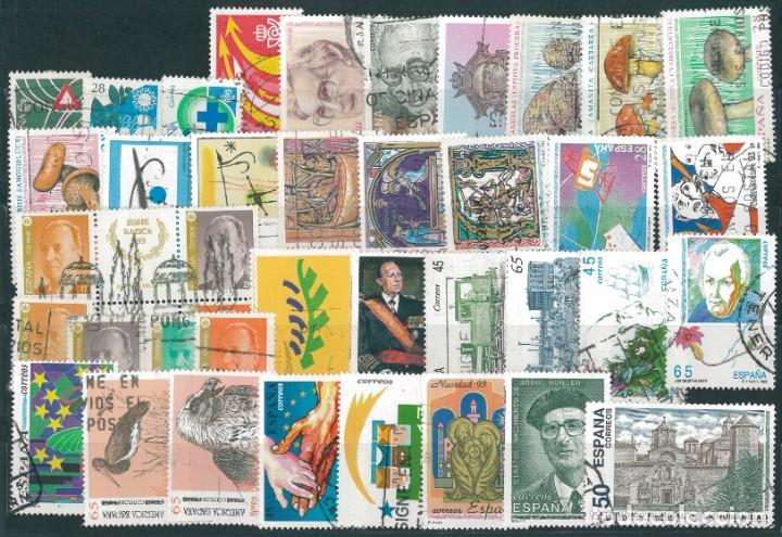 ESPAÑA. AÑO COMPLETO 1993 USADO (Sellos - España - Juan Carlos I - Desde 1.986 a 1.999 - Usados)