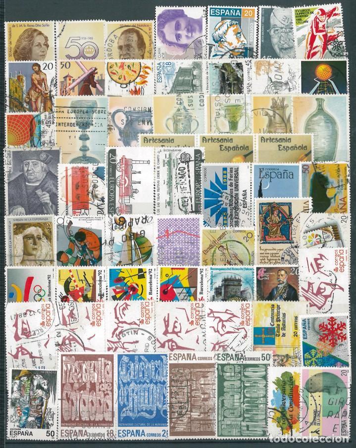ESPAÑA. AÑO COMPLETO 1988 USADO (Sellos - España - Juan Carlos I - Desde 1.986 a 1.999 - Usados)