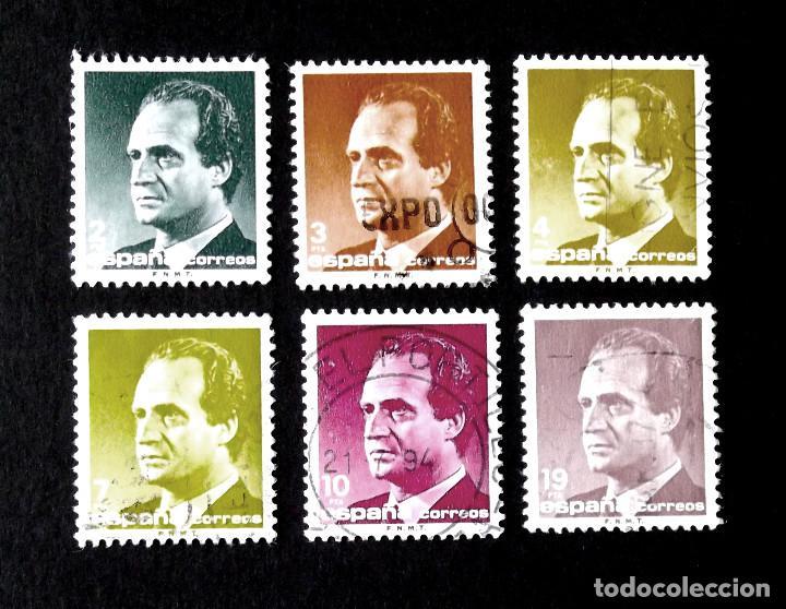 2829-34, SERIE EN USADO, FOTO ESTÁNDAR. JUAN CARLOS I. (Sellos - España - Juan Carlos I - Desde 1.986 a 1.999 - Usados)