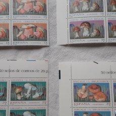 Sellos: 1994 MICOLOGÍA EDIFIL 3279/80/81/82 BLOQUES DE 10 **. Lote 268141589
