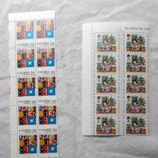 Sellos: 1989 NAVIDAD EDIFIL 3036/7 2 BLOQUES DE 10 Y 2 DE 4 **. Lote 268422424
