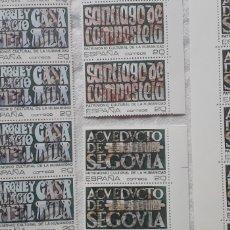 Sellos: 1989 PATRIMONIO DE LA HUMANIDAD EDIFIL 3038/9/40/1 BLOQUES DE 12 Y DE 3 **. Lote 268426319