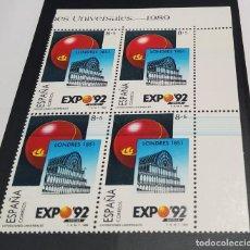 Sellos: BLOQUE DE CUATRO DE ESPAÑA DE 1989.VARIEDAD CATALOGO FILABO 2990J.NUEVAS SIN FIJASELLOS.LUJO. Lote 268437914