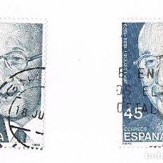 Sellos: SELLO EDIFIL ESPAÑA CIRCULADO/USADO 2931CC VARIEDAD DE COLOR JEAN MONNET 1988 45 PESETAS. Lote 268449584