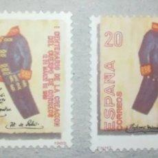 Sellos: ESPAÑA SPAIN 1989 EDIFIL 2998 VARIEDAD ERROR CENTENARIO DE LA CREACIÓN DEL CUERPO DE CORREOS. Lote 268840244