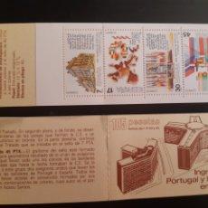 Sellos: ESPAÑA 1986, BOOKLET INGRESO PORTUGAL Y ESPAÑA EN LA CE (MNH). Lote 269079488