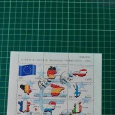 Sellos: USADO EDIFIL 3632/43 PAÍSES EURO MINIPLIEGO 63 ESPAÑA 1999. Lote 269778383