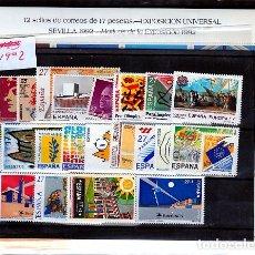 Sellos: ESPAÑA.- AÑO 1992 COMPLETO DE SELLOS, HOJAS BLOQUE Y CARNET NUEVOS SIN CHARNELA. Lote 270166528